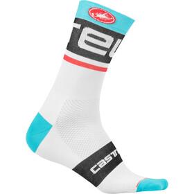 Castelli Free Kit 13 Socks white/sky blue